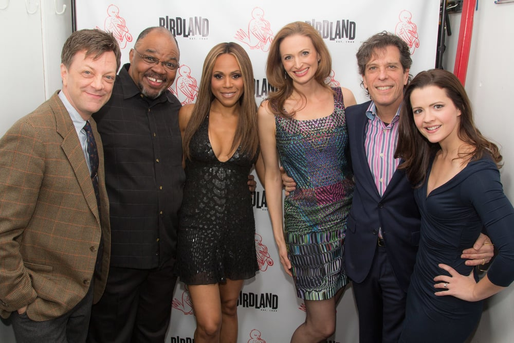 Jonathan, Jim Caruso, Ken Prymus, Debra Cox, Jessica Burrows, and Rose Hemingway
