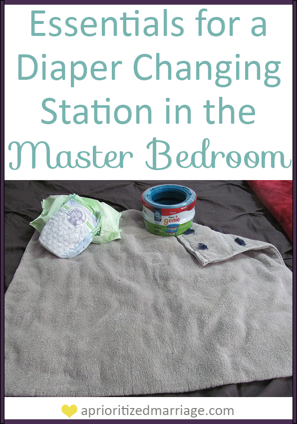 Two must have items if you plan to change baby diapers in your bedroom. Don't let the mess take away from the romantic sanctuary your bedroom should be.