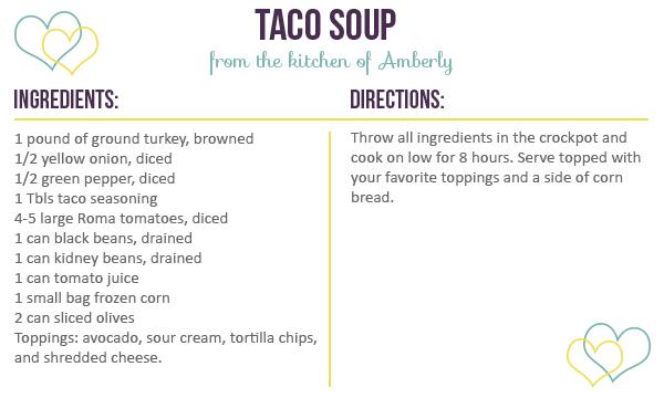Recipe for Taco Soup