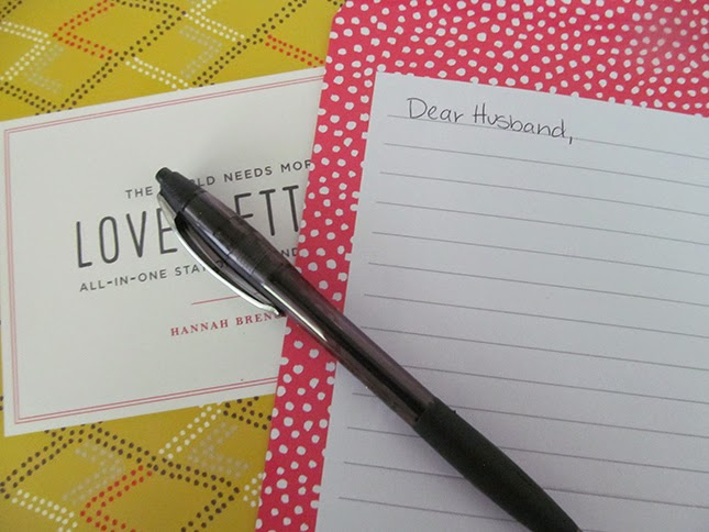 Write a love note to your husband today. This book has suggestions for what you can write if you're at a loss for words.