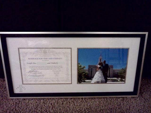 Framed Certificate of Sealing