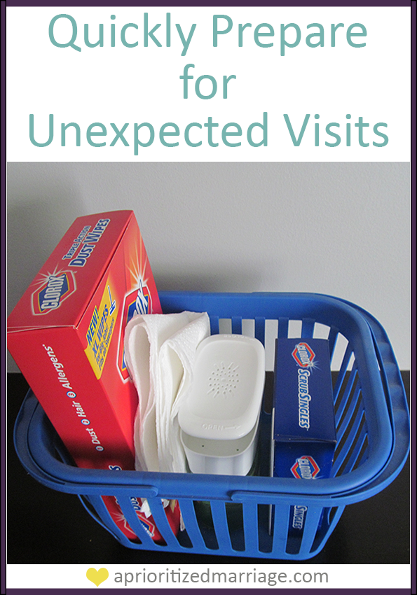 Quick tips to prepare your home for unexpected visitors.