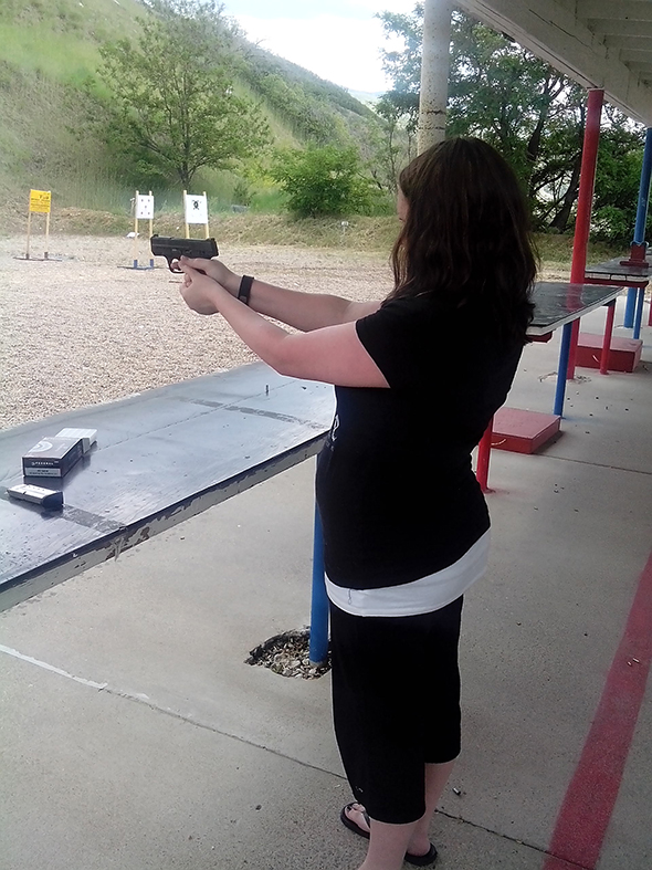 Date night at the shooting range