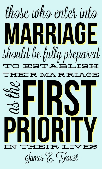 Marriage is a Priority