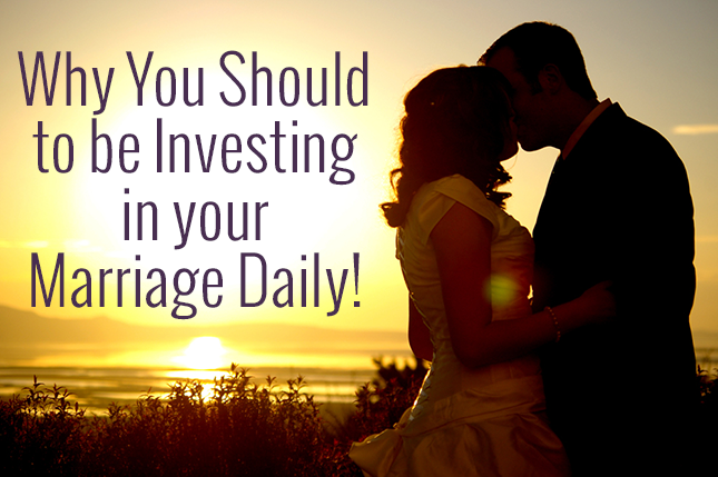 You invest in a lot of things, why not invest in the most important thing in your life?