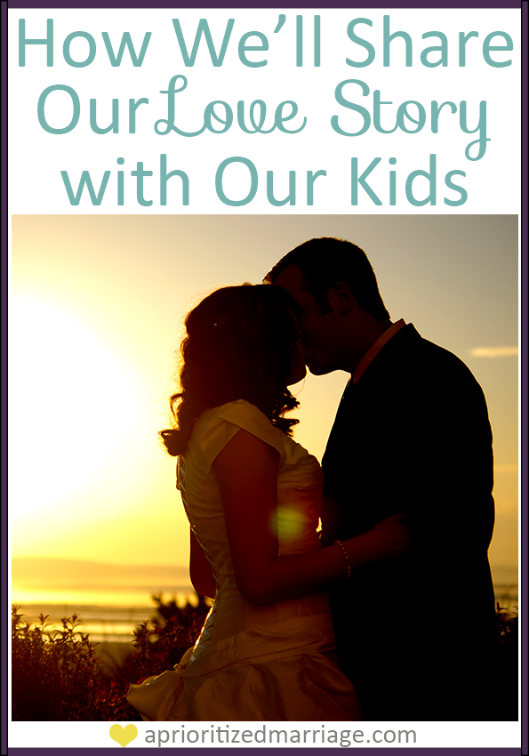 A great, personalized way to share your love story with your kids.