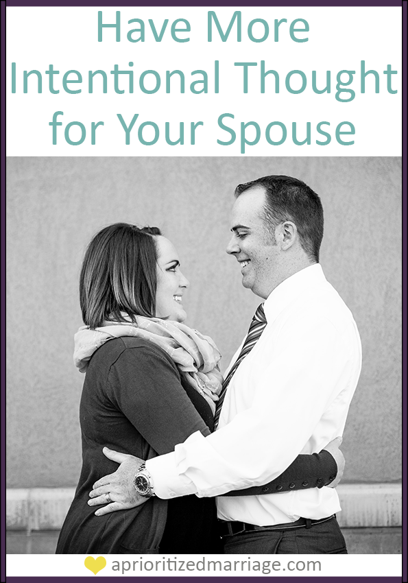 Amidst the chaos of life, don't forget to think about your spouse on a daily basis. These five tips will help get you started!