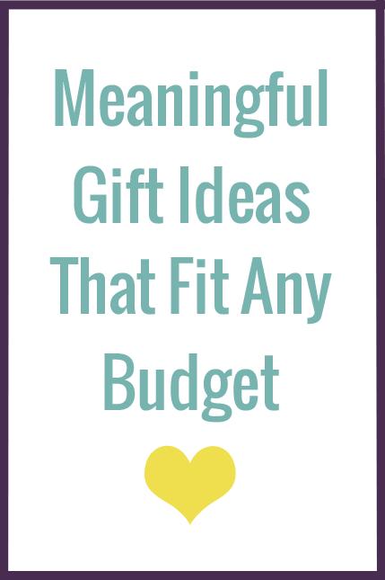 Budget friendly gift ideas