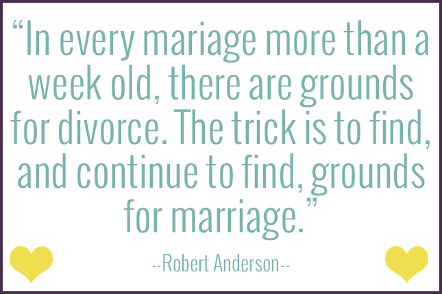 Find grounds for marriage in your life