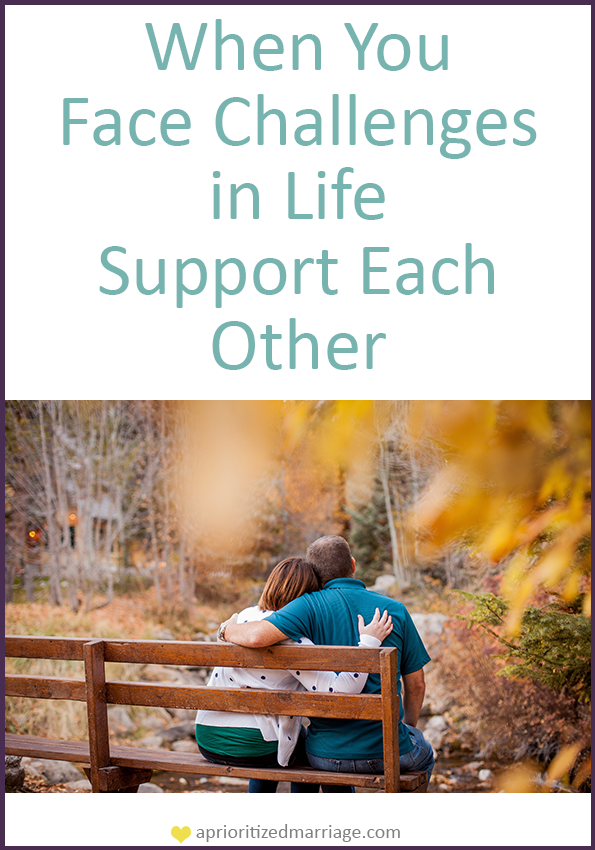 No matter what challenges or obstacles come your way, make sure that you are always supporting each other in marriage.