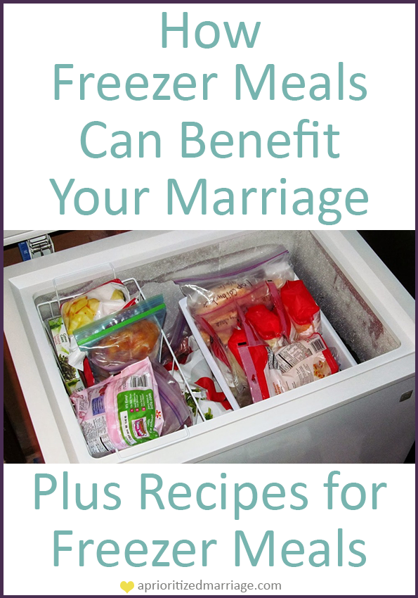 How to use freezer meals to make your marriage more of a priority. Plus, recipes to stock your freezer.