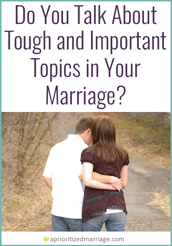 Are you avoiding having conversations in your marriage because they are potentially awkward subjects?