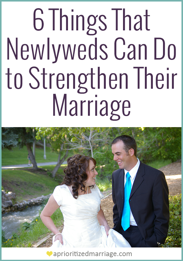Continue to strengthen your relationship after you're married.