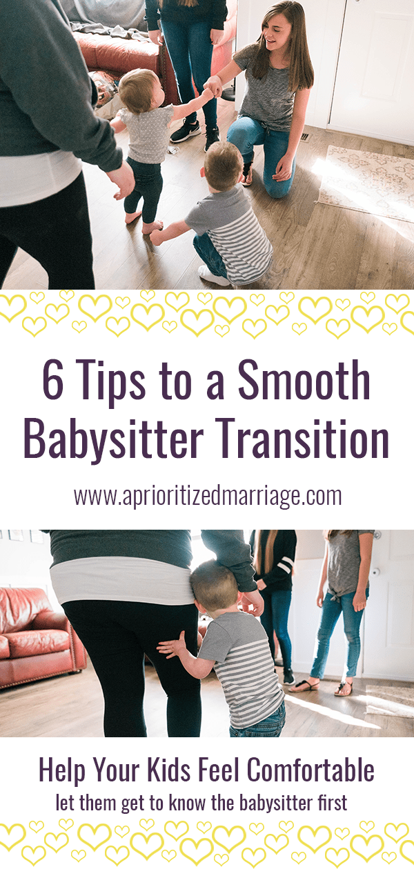 Help your kids have a smooth transition with the babysitter when they come over for date night.