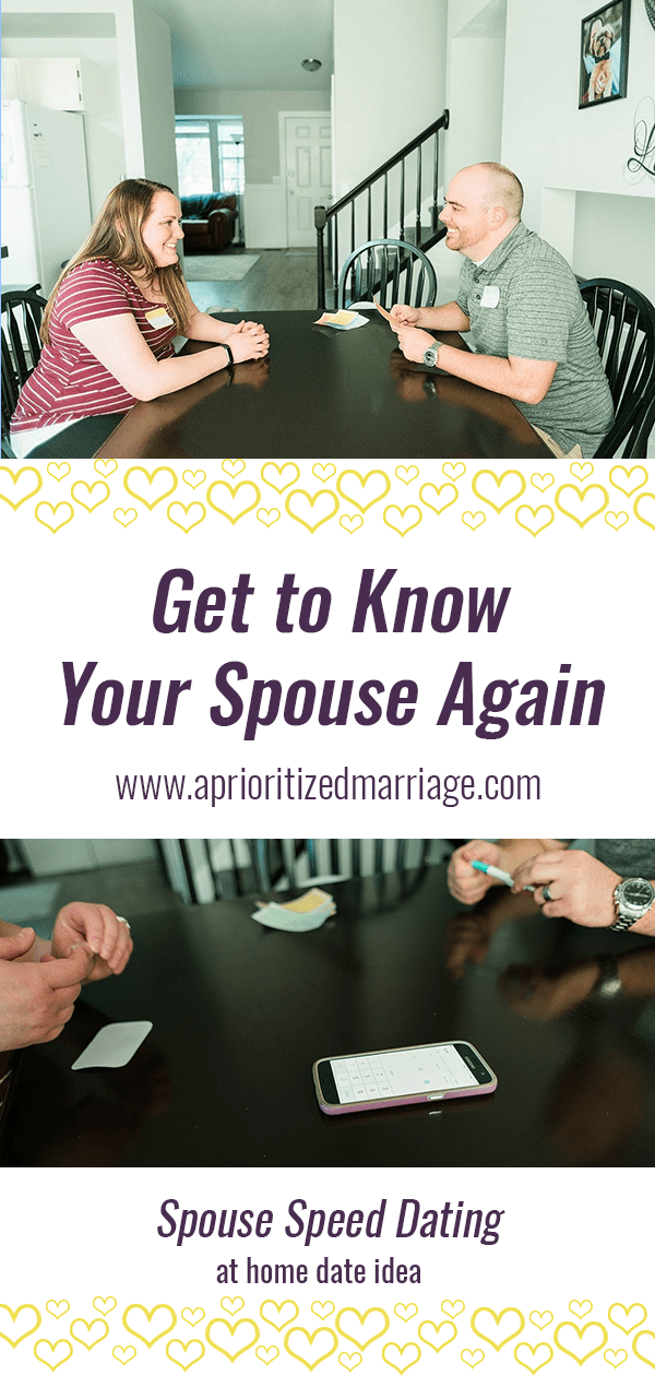 The perfect at home date night idea for couples in every stage of life. Get to know each other better with this speed dating activity. Free printable downloads.