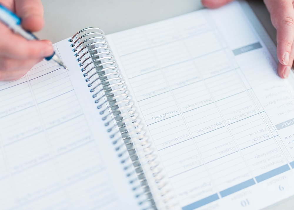 using your planner to be more productive