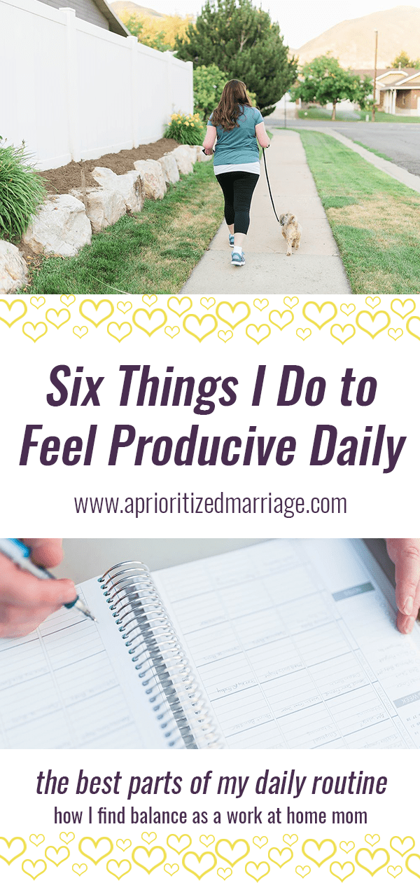 Including these things into my daily routine help me to feel more balanced, productive and present daily in my roles as wife, mom and employee