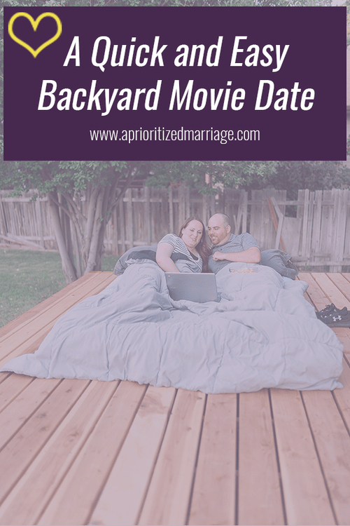 A fun backyard movie date for those perfect summer nights.