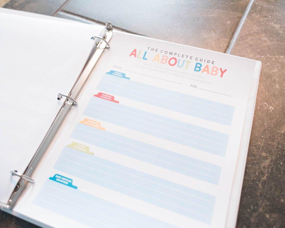 Baby feeding and sleep schedule for babysitter
