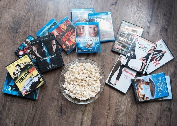 Selection of movies perfect for date night.