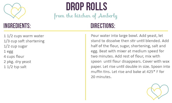 Recipe for Drop Rolls