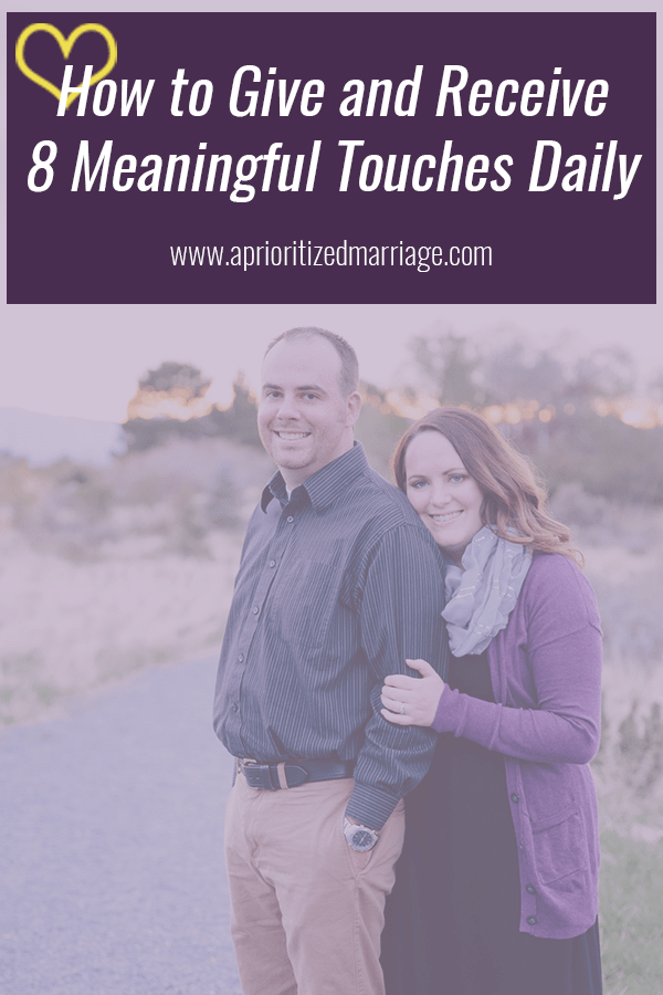 People need  8 to 10 meaningful touches a day to maintain physical and emotional health, according to research. Here's how to get yours!
