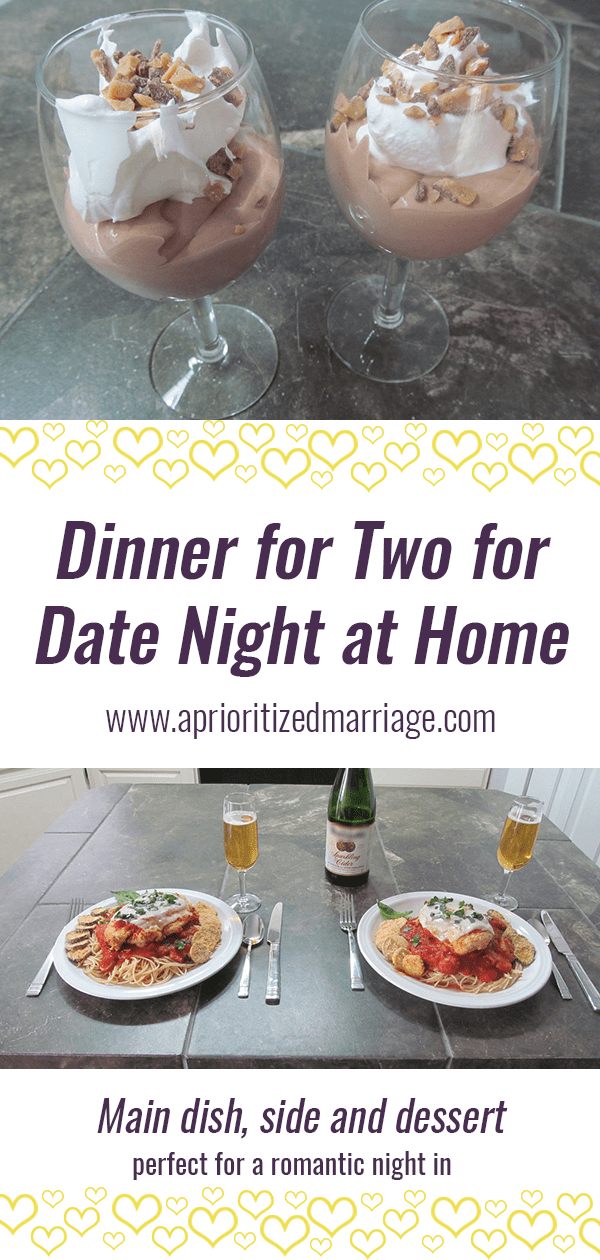 A full dinner menu for two for a delicious date night at home