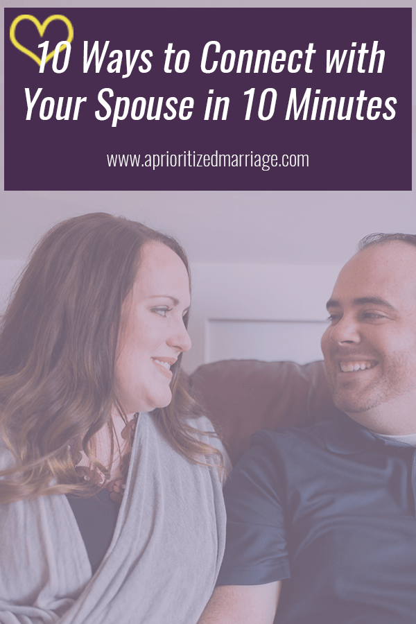 Connect with your spouse in just a few short minutes a day!