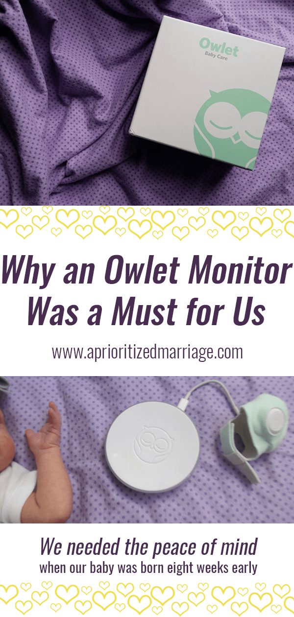We were so grateful to have an Owlet Monitor when our baby was born 8 weeks early
