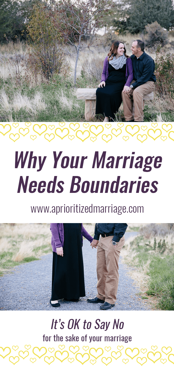 Every person and every relationship needs boundaries. Have you set boundaries for your marriage?