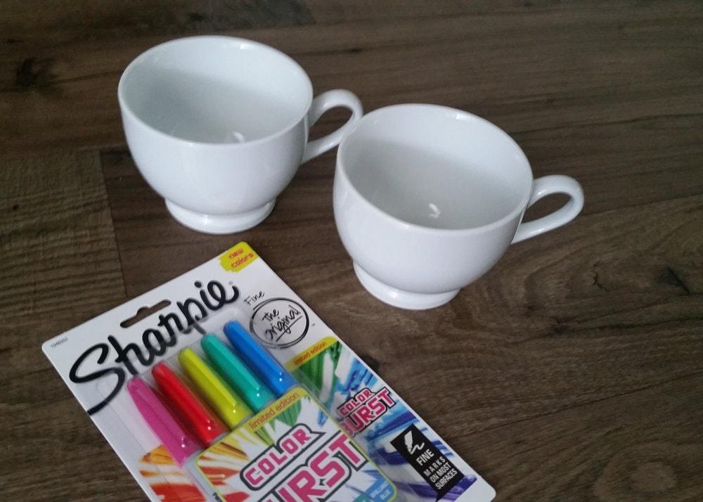 sharpie marker on a mug