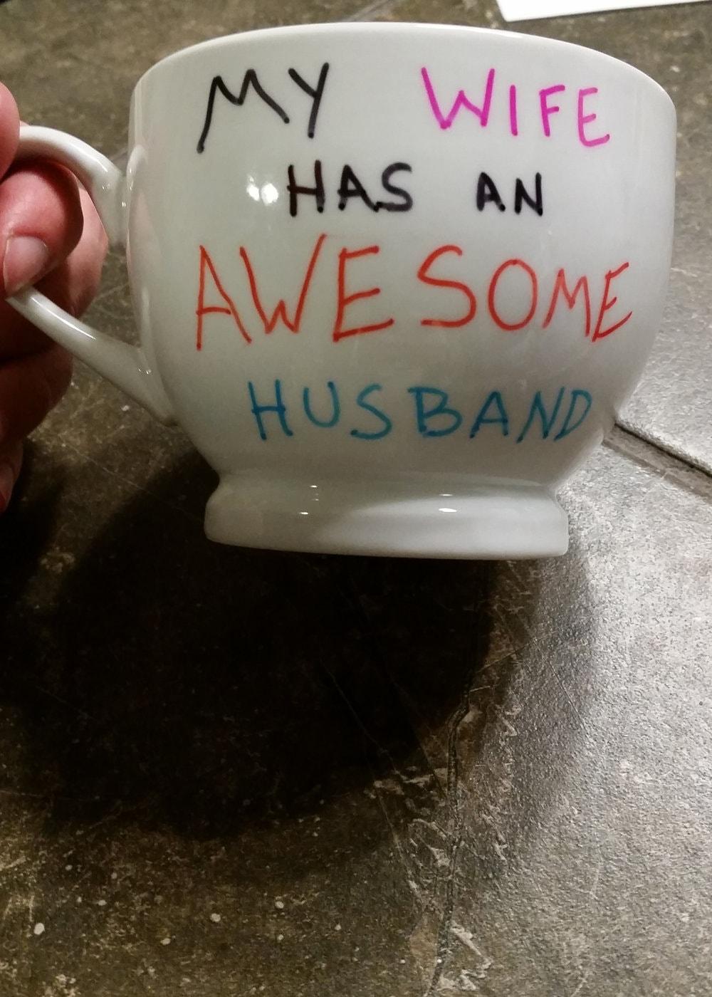 my wife has an awesome husband mug