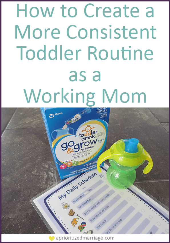 How to create a more consistent routine for your toddler despite a busy schedule