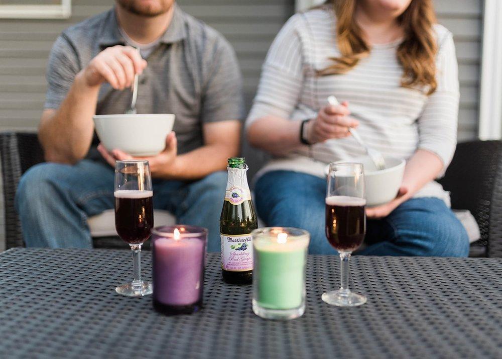 mini sparkling cider