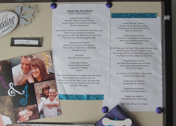 display wedding day memories