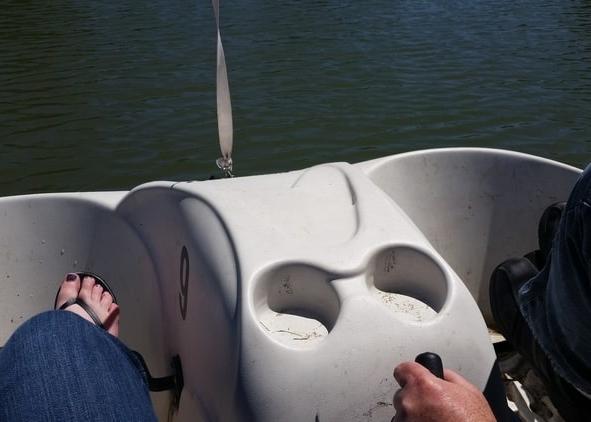 Paddle boating at Liberty Park