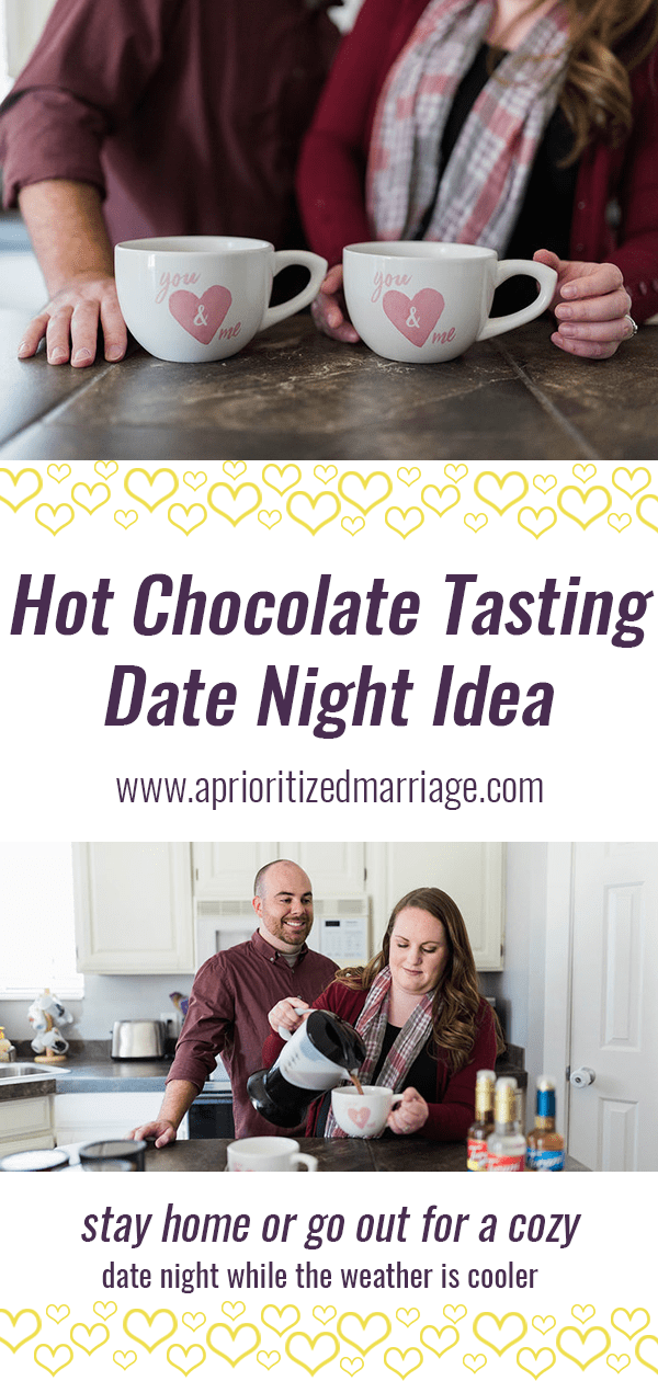 Hot Chocolate Tasting - Fun date night at home for the fall or winter months