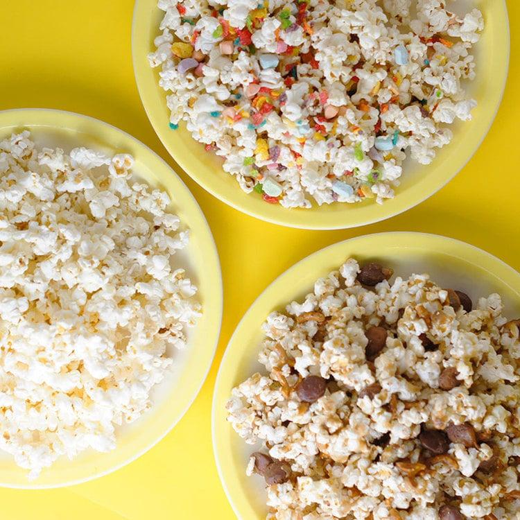 3 Gourmet Paper Bag Popcorns