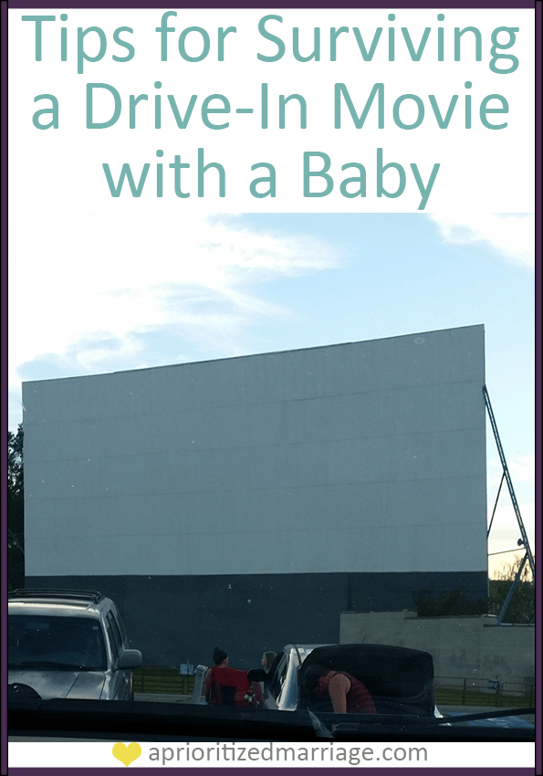 tips for a drive in movie with a baby