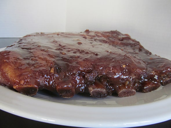 grilled saucy ribs