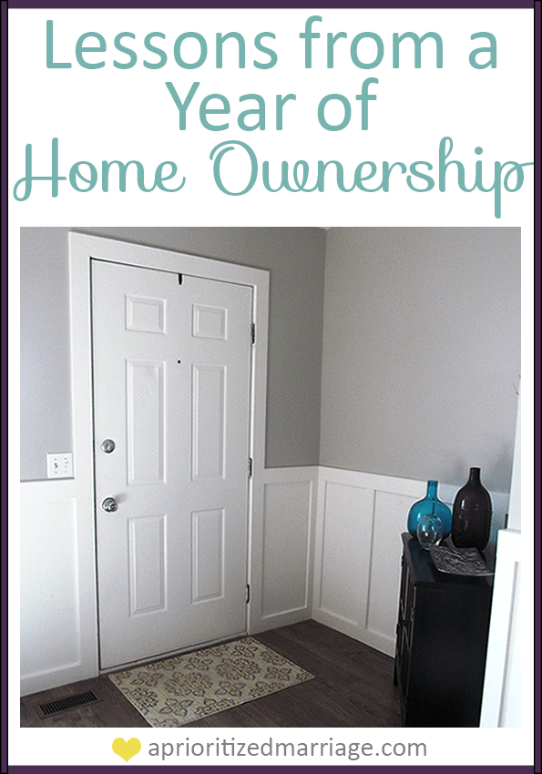 Lessons we've learned from being home owners