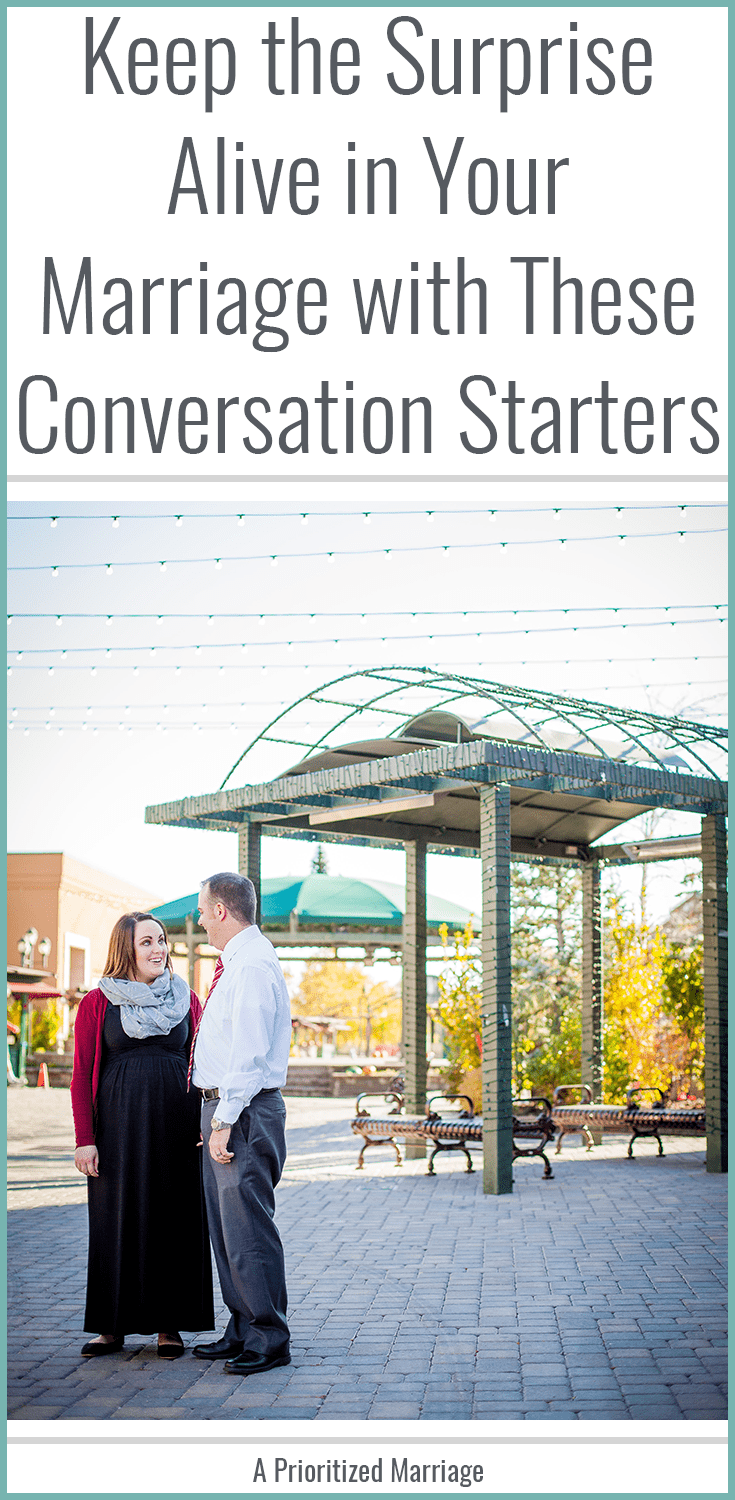 Keep the surprise alive in your marriage with these conversation starters.