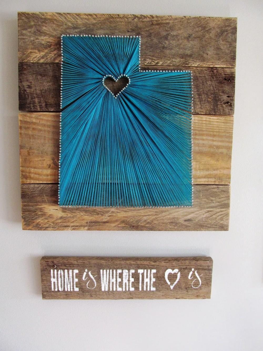 custom string art state board
