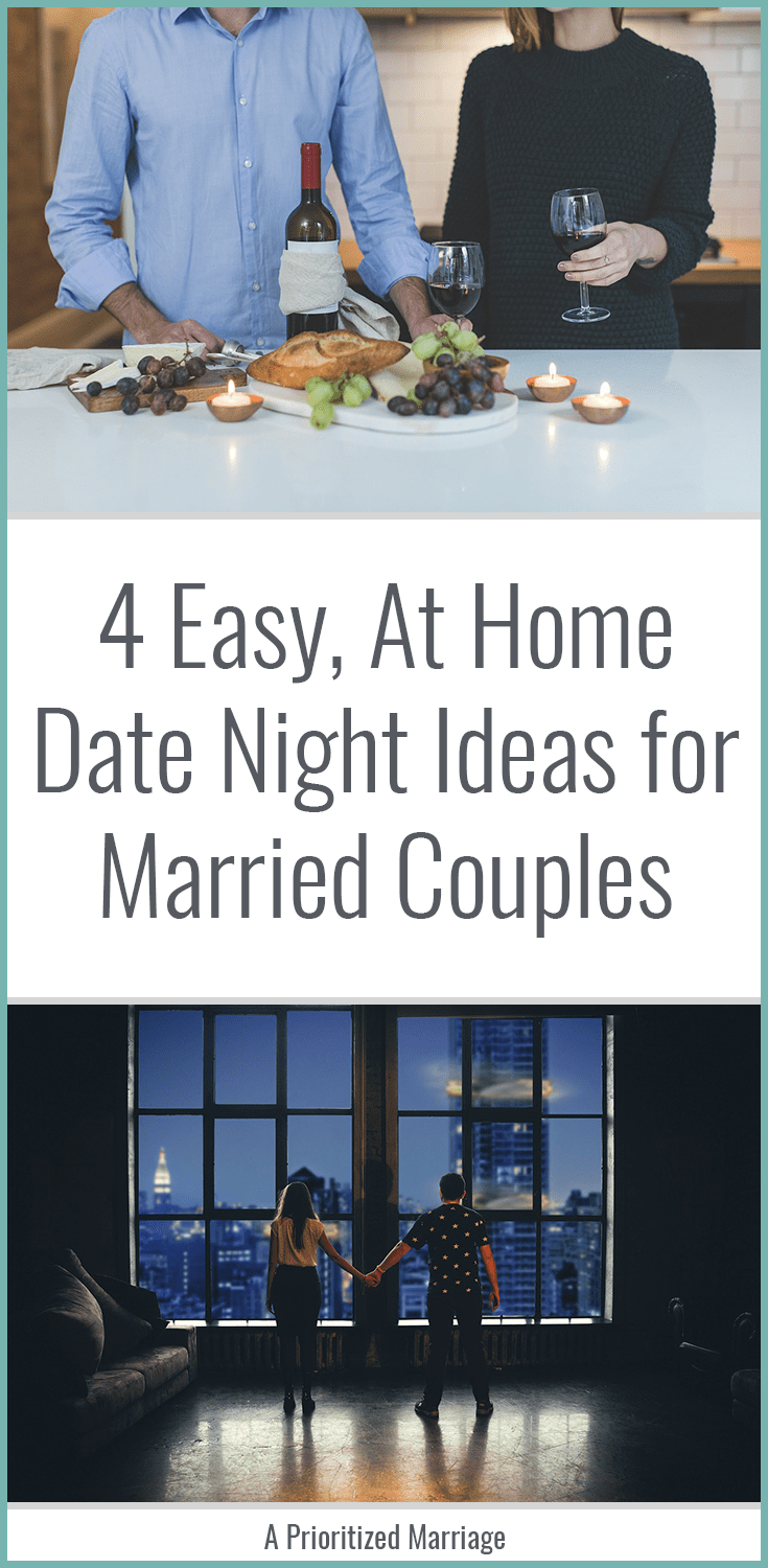 Sometimes date night at home is necessary for married couples. Whether you're parents, on a budget, or just looking for something fun to do at home, this post has date night ideas for you.