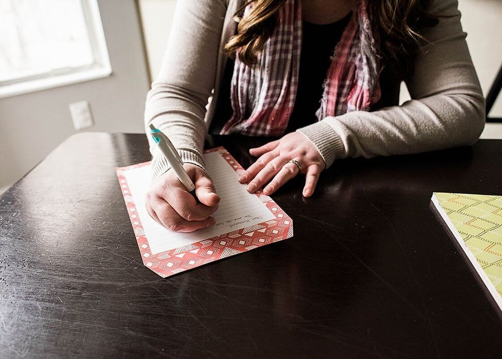 writing a love note for your spouse