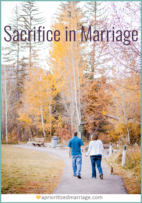 A strong marriage relationship requires sacrifice from both spouses