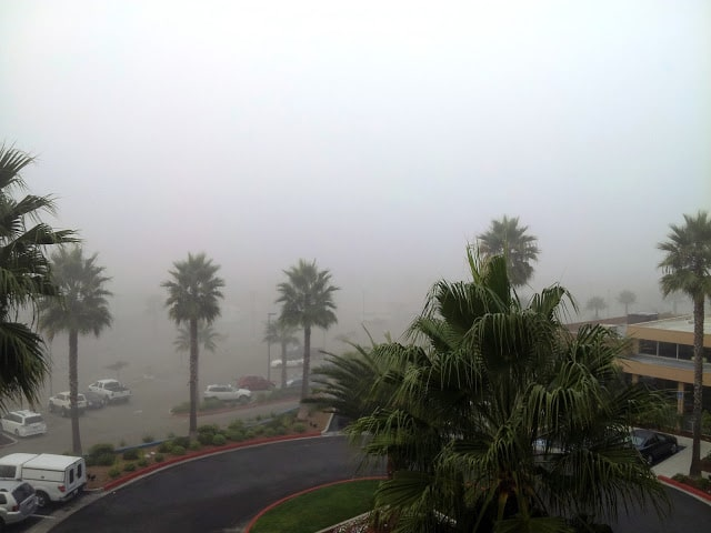 Oceanside Beach in the fog