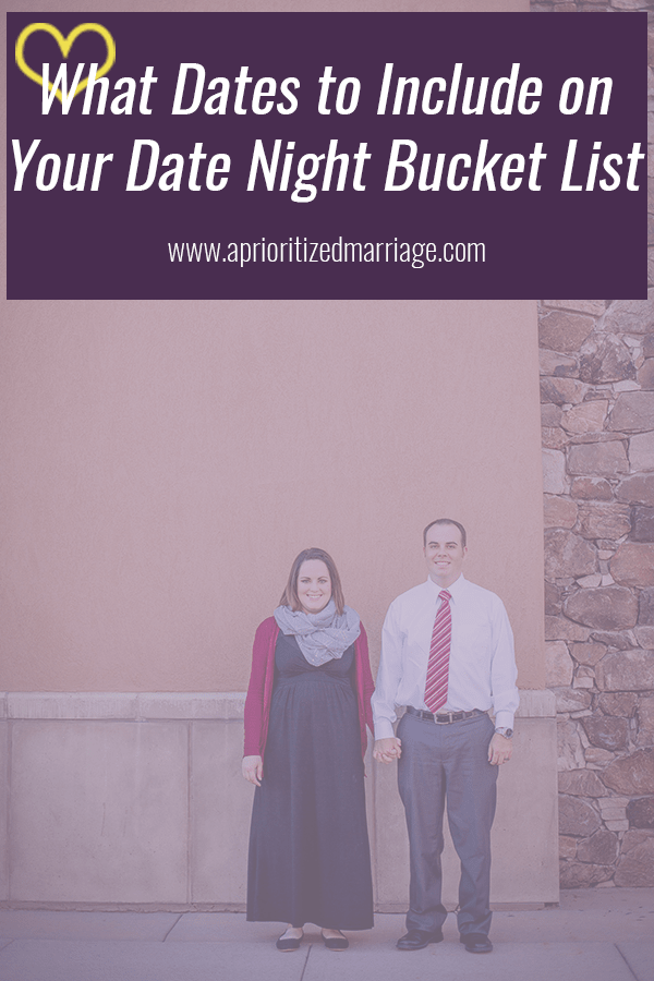 Create a date night bucket list each year to encourage you to think outside the box when it comes to your date night activities.