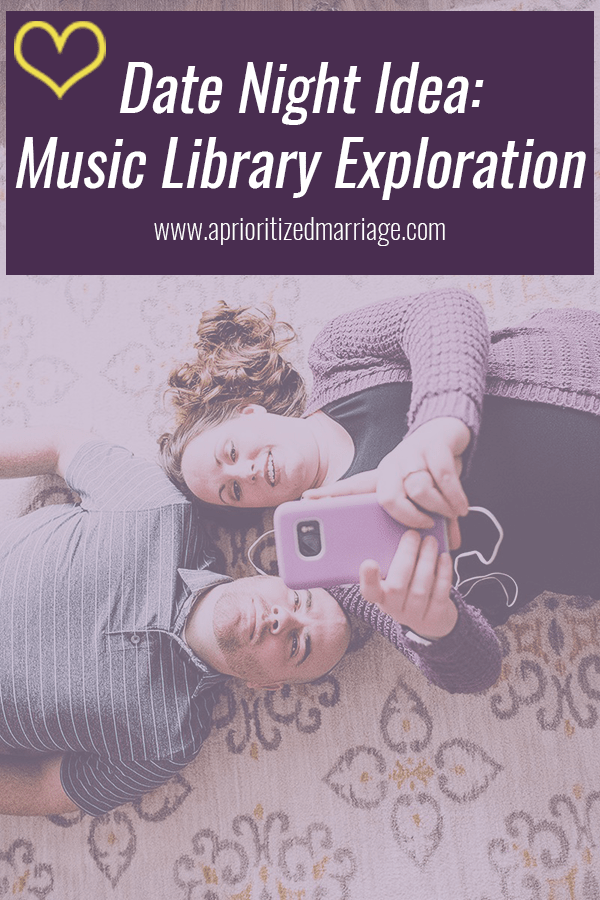 A fun idea for date night at home or out and about if you choose. Bring your music library along and share some favorites with each other.