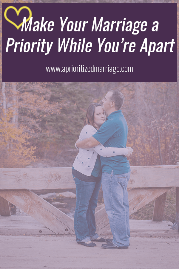 No matter how many days you have to spend apart, it can be hard on your marriage. These five things will help you keep your relationship strong while you are apart.